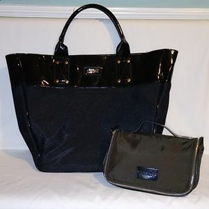 Versace Parfums large tote and small cosmetic case